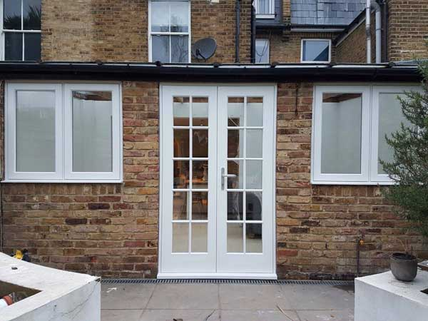 Georgian style double patio door