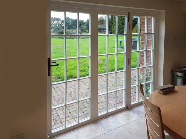 Georgian style bi fold door
